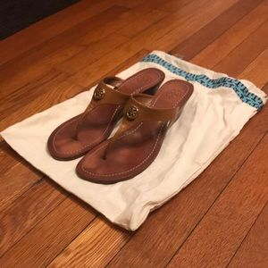 Tory Burch Wedge Sandals Tan/brown size 8
